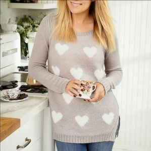 Lauren Conrad Gray Heart Sweater